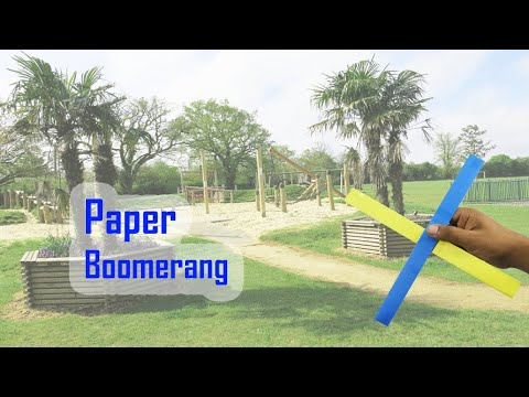 Origami Paper Boomerang - How to Make a Paper Boomerang | That's Flying Fast - Easy Paper Boomerang