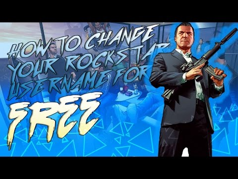 How to change your R* SocialClub Username for FREE (GTA V Online Racing Gameplay)