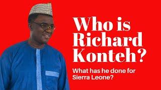 Who is Dr  Richard Konteh?