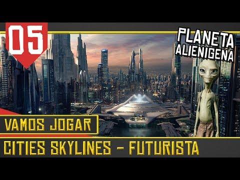 Cities Skylines Cidade Futurista #05 - Resgates e Desastres [Série Gameplay Português PT-BR]