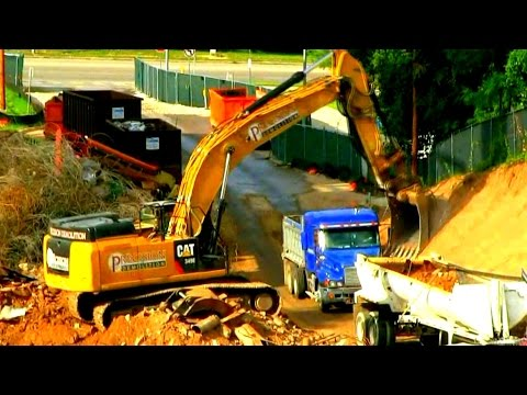 "Excavator's and  Dump-truck's at work ""Raw Sound"" 35mins"