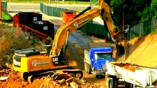 Excavator's and  Dump-truck's at work