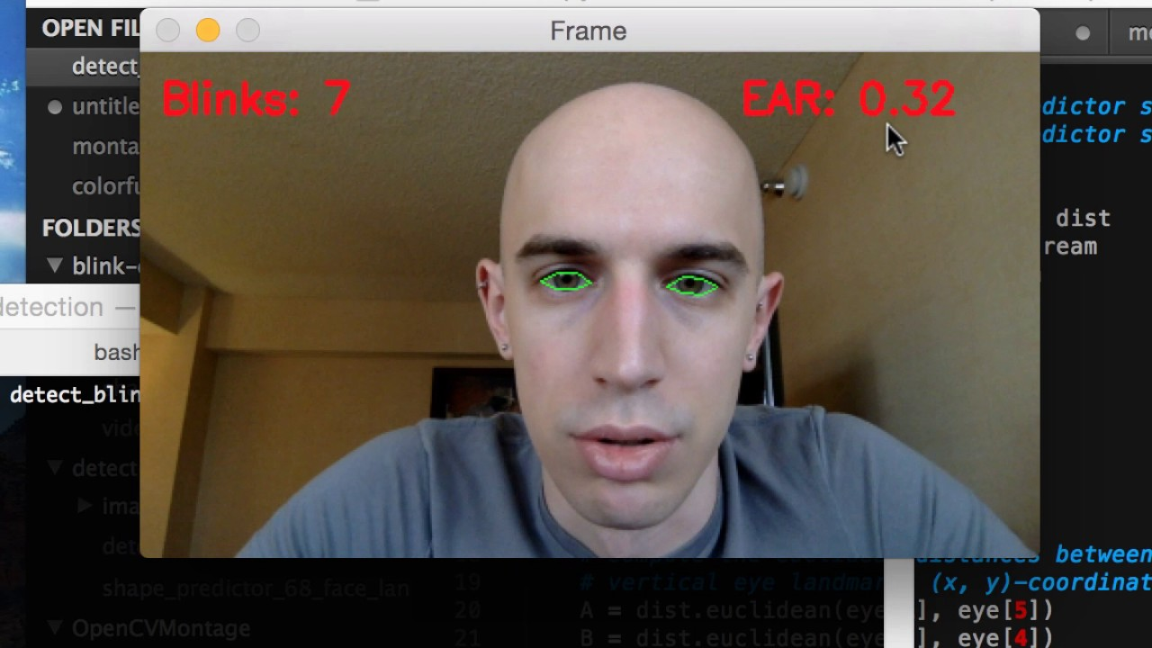 Eye blink detection with OpenCV, Python, and dlib