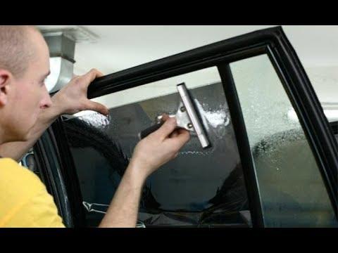 Как самому затонировать стекла в машине