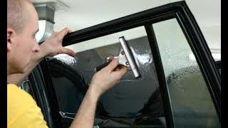 как легко и без ошибок можно самостоятельно затонировать стекла на автомобиле