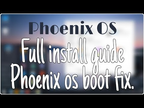Phoenix OS Full installation Guide Part 1 : All Problem Fixed with PUGB Mobile