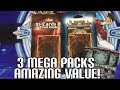 3 YUGI'S MEGA PACKS CHEAP + RANDOM CARDS!   Yugioh Target Value Booster Pack Opening