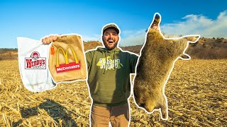 FAST FOOD RESTAURANT Raccoon Trapping CHALLENGE!!! (Surprising Result)