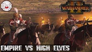 Empire vs High Elves - Total War Warhammer 2 - Online Battle 207