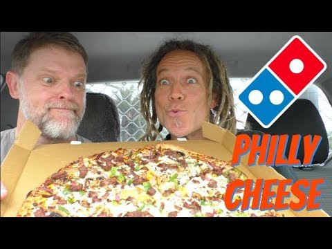 Domino's Philly Cheese Steak New Yorker Pizza Review Mukbang- Greg's Kitchen