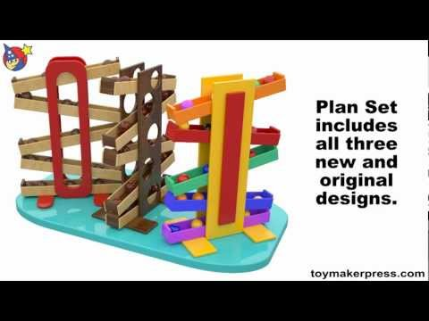 Wood Toy Plans - Easy Marble Drop Toy