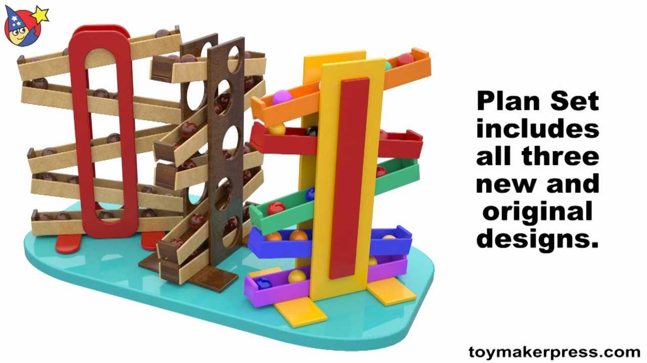 Wood Toy Plans Easy Marble Drop Toy