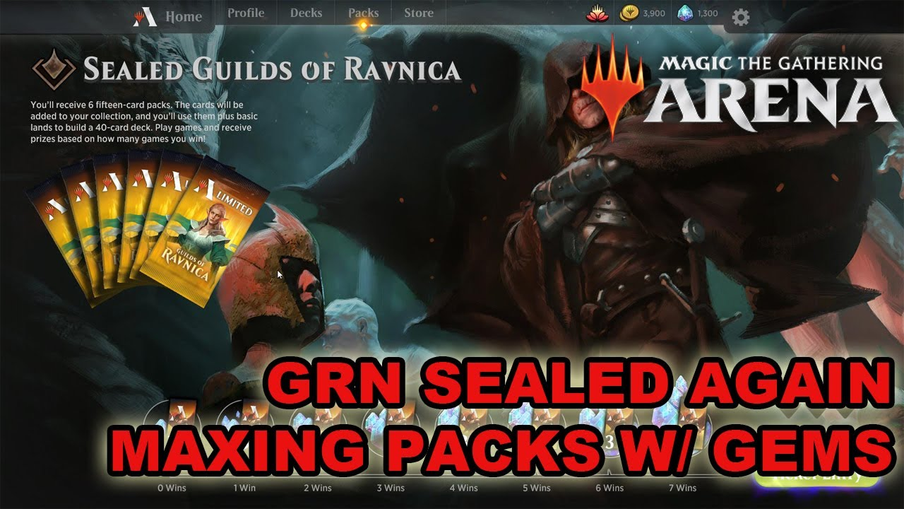 MTG Arena Guilds of Ravnica Sealed Event MAXING PACKS/ CARDS WITH GEMS MTGA  MTGO Magic the Gathering
