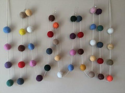 FELT GARLAND BALLS - how to felt balls & make the garland