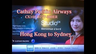 Cathay Pacific Airways B777-300ER ( Hong kong ?Sydney)Economy class  review!!!