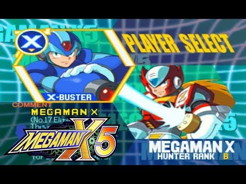 Mega Man X5 - Character Select