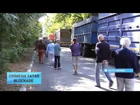 Crimean Tatar Blockade Day 10: Protesters prevent trucks from entering Crimea from mainland Ukraine