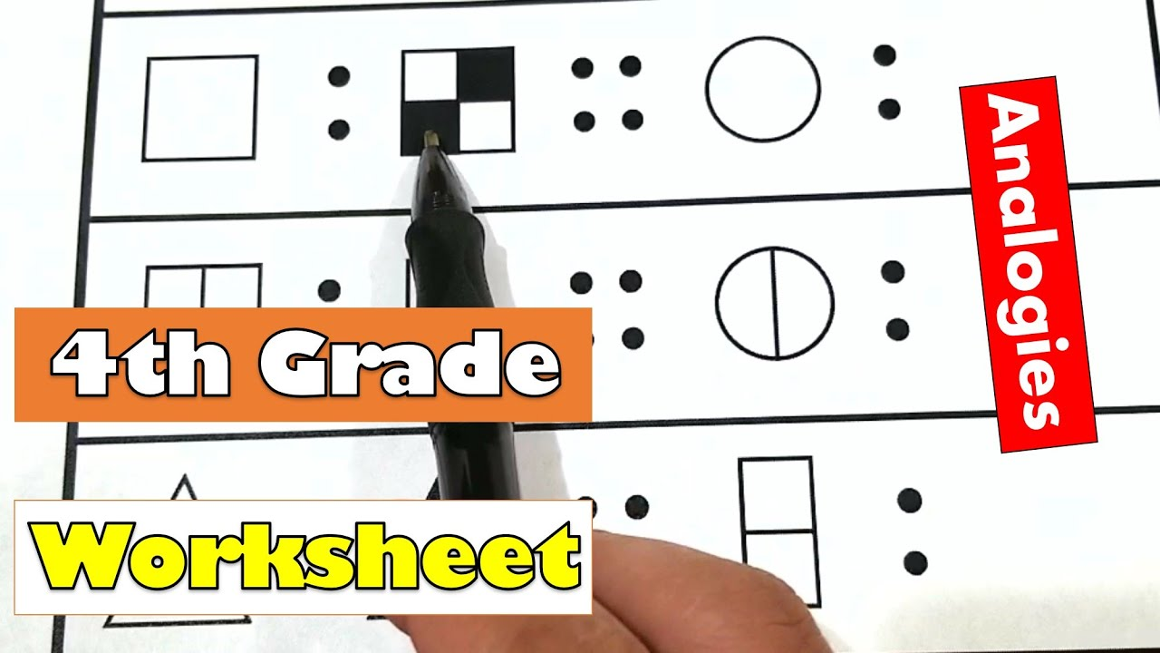 4th Grade Math - Pictures Analogies Worksheet   Compare   Printable Work  For Kids At Home - YouTube [ 720 x 1280 Pixel ]