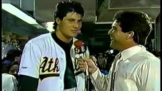 Jose Canseco post game interviews 1988