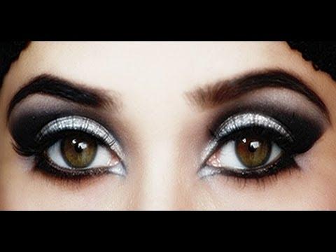 Dramatic Arabic Eye Makeup Tutorial - YouTube