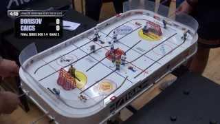 Настольный хоккей. Выпуск 83. Table hockey-RIGA-2012-final-BOR-CAI-2-comment-TITOV