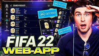 FIFA 22 Web App Info & Early Access