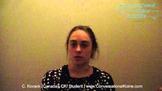 Learn Koine Greek - A CKI Student Testimonial