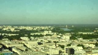 Warszawa 6/2015-panorama z 40 piętra Hotelu Marriott 1080p