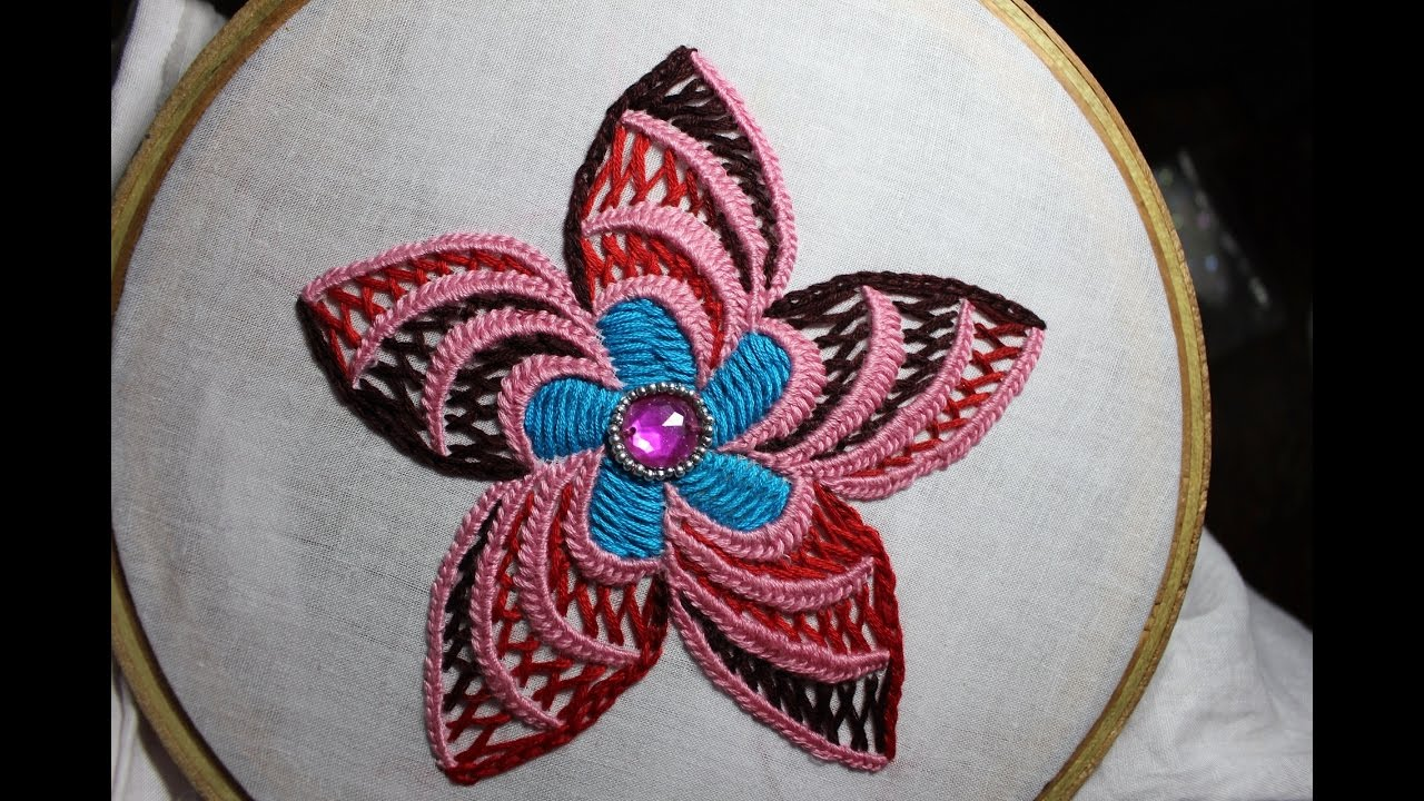 Hand embroidery designs design for cushion cover