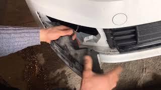 замена ламп ДХО. Volkswagen Polo 2018