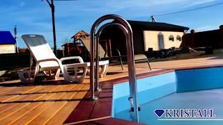 Обзор деревянного бассейна из лиственницы. Кристалл - строительство и производство бассейнов