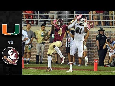 Miami vs. Florida State Football Highlights (2017)