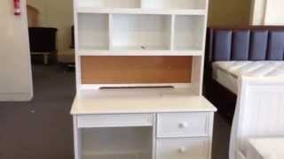 Montclair White Student Desk With Drawers