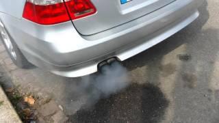 Fumée blanche et fuite echappement  bmw
