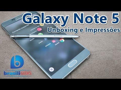 Galaxy Note 5 (Até que enfim, ele chegou!) - Unboxing e Impressões (em Português)
