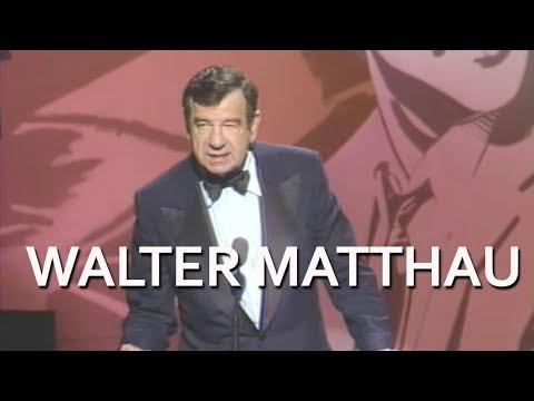 Walter Matthau Salutes Jack Lemmon at the AFI Life Achievement Award Tribute in 1988