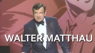 Walter Matthau Salutes Jack Lemmon at the AFI Life Achievement Award Tribute in 1988