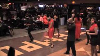 Purple Charlotte Steppers Matriculation Line Dancing to Chuck Baby and Super Bad