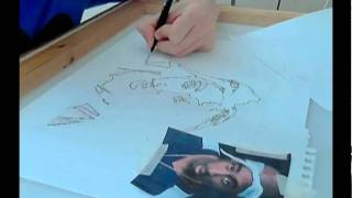 EMSEY drawing Tupac Shakur