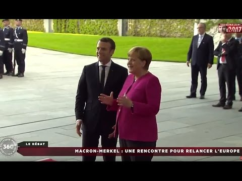Emmanuel Macron reçu par Angela Merkel à Berlin