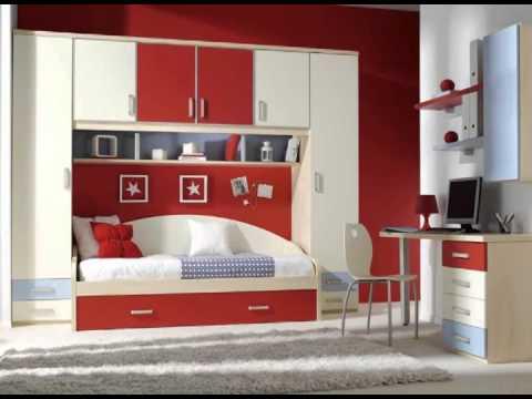 Muebles juveniles naranjas rosas verdes y rojos youtube for Muebles rosas