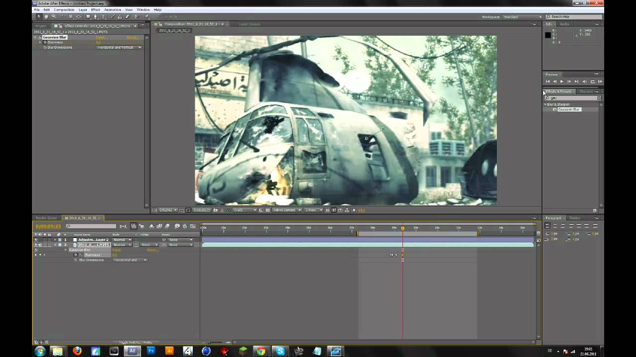 After Effects   Zoom In & Out + Blur / Defocus