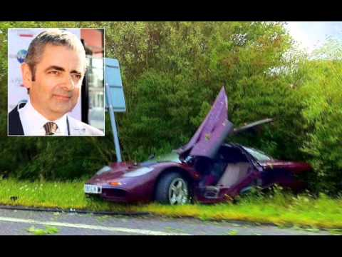 Rowan Atkinson work of a traffic accident in his car