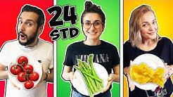 24 STUNDEN EINE FARBE ESSEN ! LUSTIGE CHALLENGE mit Kaan, Dania & Bianca