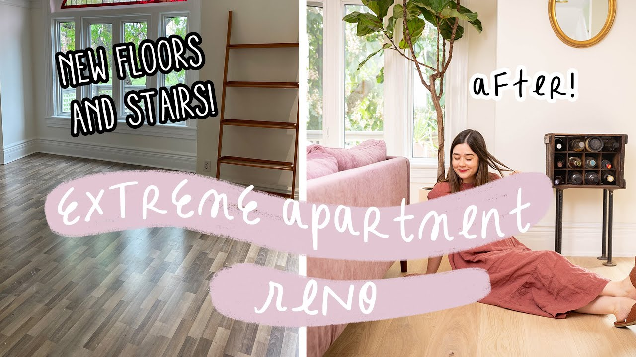 Installing My Dream Scandi-Style Flooring | Extreme Apartment Reno! My Rental Reno S3 E3