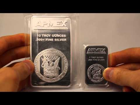 Apmex 10 Oz Silver Bar Youtube