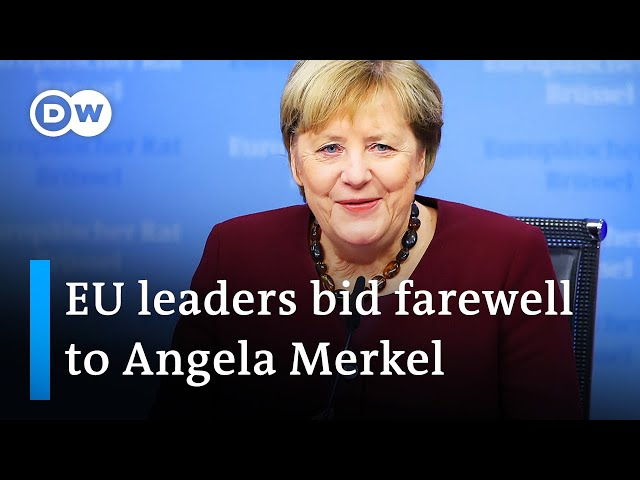 Angela Merkel receives fond farewell at final EU summit | DW News