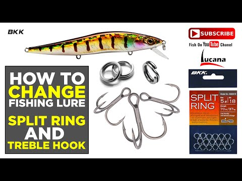 HOW TO CHANGE FISHING LURE TREBLE HOOKS. BY FISH ON YOUTUBE CHANEL