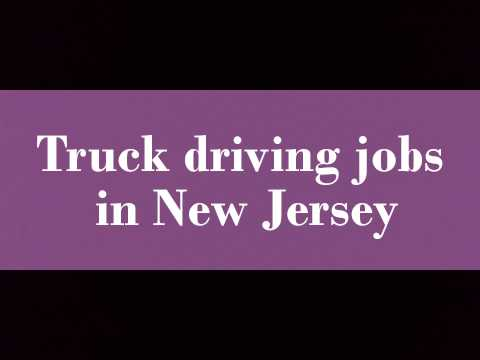 Truck driving jobs in New Jersey