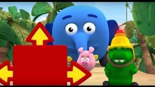 Перекресток в джунглях - Все серии подряд (Сезон 1 Серии 1, 2, 3) Мультфильм для малышей